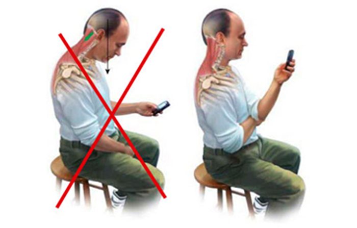 Dolor por posición con el telefono movil